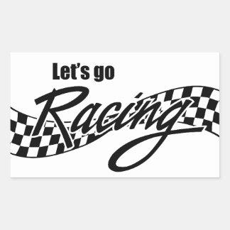 Let's Go Racing Rectangular Sticker