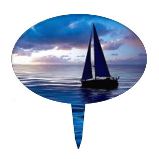 Lets Go Sailing Cake Pick