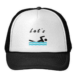 Let's Go Swimming Cap