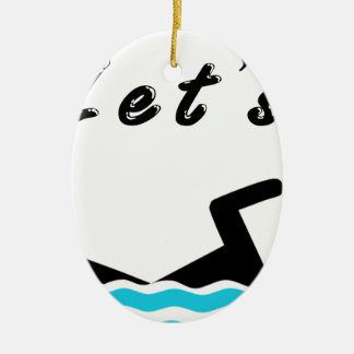 Let's Go Swimming Ceramic Oval Decoration