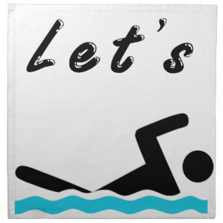 Let's Go Swimming Napkin