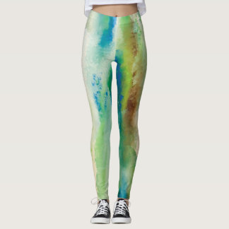 Lets Go To The Beach print by JP Choate Leggings
