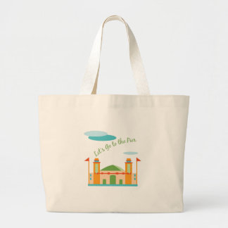 Lets Go To The Pier Jumbo Tote Bag