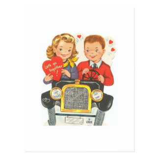 Lets Go Together Valentine Postcard