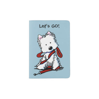 LET'S GO Westie Terrier Passport Holder