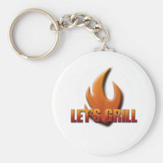 Let's Grill Key Ring