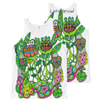 Let's Grow by Cindy Ginter All-Over Print Singlet