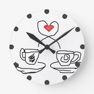 Let's have a cup of.. wall clock