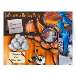 Let's have a Holliday Party Card
