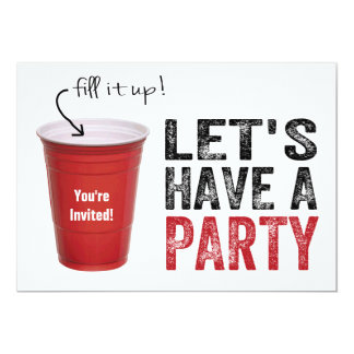 Let's Have a Party! Funny Red Cup Card