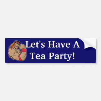 Let's Have A Tea Party! Bumper Sticker