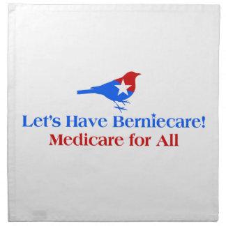 Let's Have Berniecare - Medicare For All Napkin