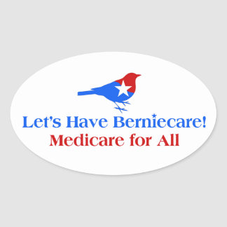 Let's Have Berniecare - Medicare For All Oval Sticker
