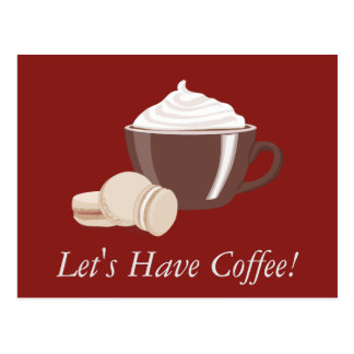 Let's Have Coffee Postcard
