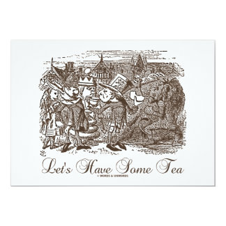 Let's Have Some Tea (Wonderland Alice) 13 Cm X 18 Cm Invitation Card