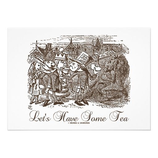 Let's Have Some Tea (Wonderland Alice) Invites