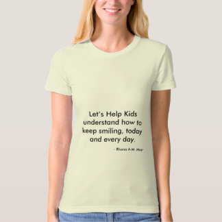 Let's Help Kids American Apparel Organic T-Shirt