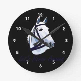 Lets Horse Around Arabian Blue Halter Wall Clocks