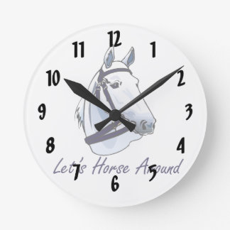 Lets Horse Around Arabian Blue Halter Wallclock