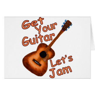 Let's Jam Greeting Card