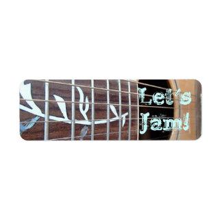 Let's Jam! Stickers Return Address Label