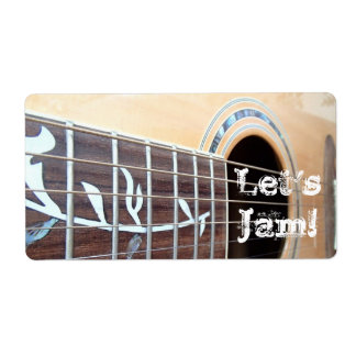 Let's Jam! Stickers Shipping Label