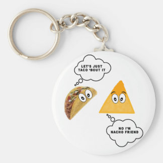 Let's Just Taco 'Bout It.png Basic Round Button Key Ring