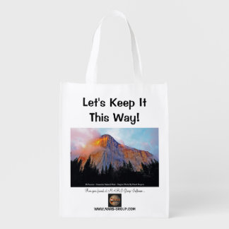 """Let's Keep It This Way!"" Reusable Grocery Bag"