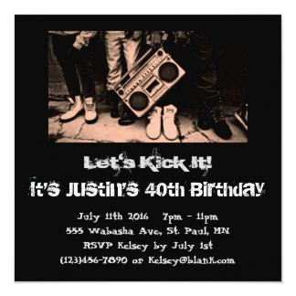 Let's Kick It Birthday Invitation