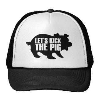 let's kick the pig cap