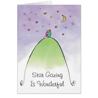 Let's look at the stars greeting card