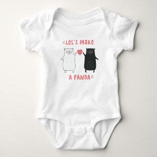 let's make a panda baby bodysuit
