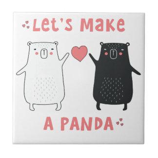 let's make a panda ceramic tile