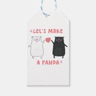 let's make a panda gift tags
