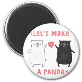 let's make a panda magnet