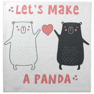 let's make a panda napkin