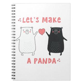 let's make a panda notebook