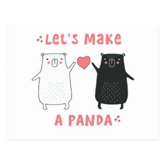 let's make a panda postcard