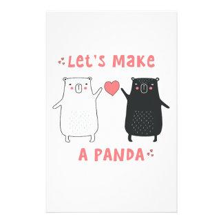 let's make a panda stationery