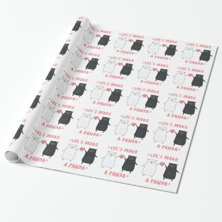 let's make a panda wrapping paper