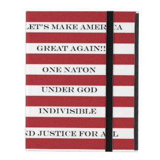 Let's Make America Great Again!  Americana  MAGA iPad Folio Case