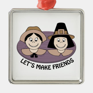Lets Make Friends Christmas Ornaments