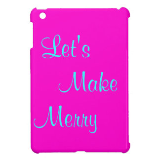 """Let's Make Merry"" Retro-Style Pink Merry Xmas Cover For The iPad Mini"