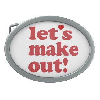 Let's Make out Buckle Oval Belt Buckles
