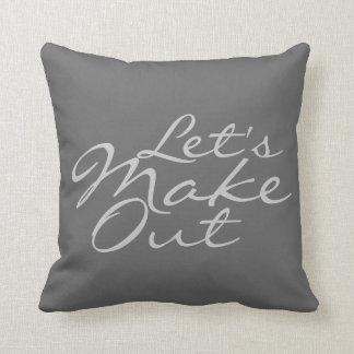 Let's Make Out - decorative pillow