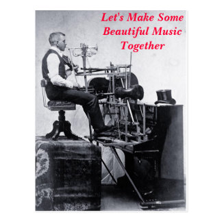 Let's Make Some Beautiful Music Together - card Postcard