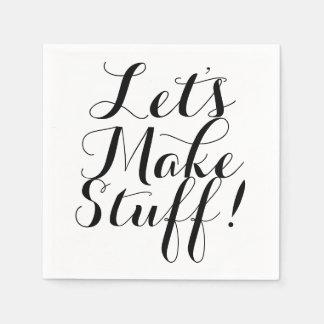 Let's Make Stuff • Craft Party Disposable Serviette