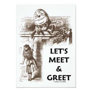Let's Meet & Greet Alice Humpty Dumpty Wonderland Card