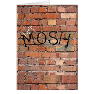 Let's Mosh Graffiti Birthday Card