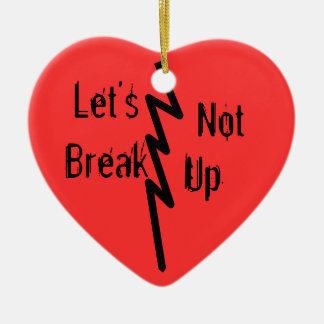 Let's Not Ceramic Heart Decoration